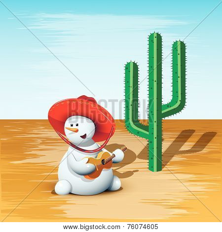 Snowman And Cactus
