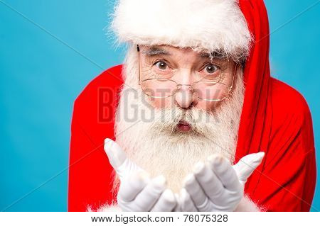 Santa Claus With Open Palms