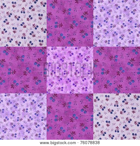 Berry shaped cotton squares for a quilt Project