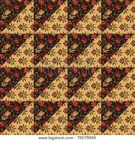 Arrangement with flower cotton scap for a Quilt