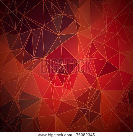 Abstract Vector Geometric Background In Warm Colors. Vector Back