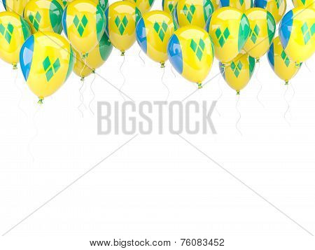 Balloon Frame With Flag Of Saint Vincent And Grenadines