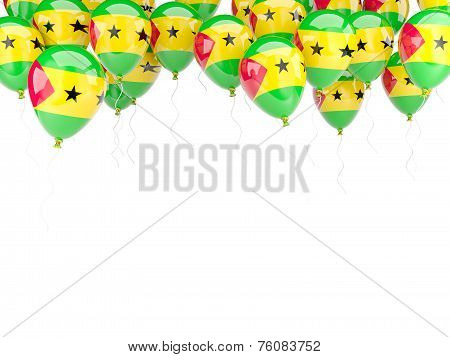 Balloon Frame With Flag Of Sao Tome And Principe