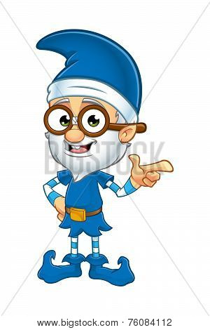 Old Elf Character in Blue