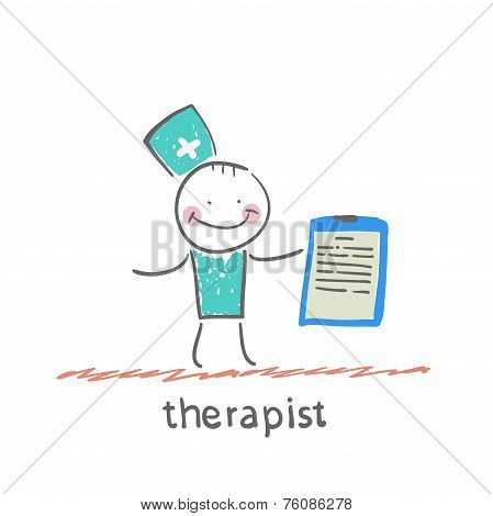 therapist holding folder in hand