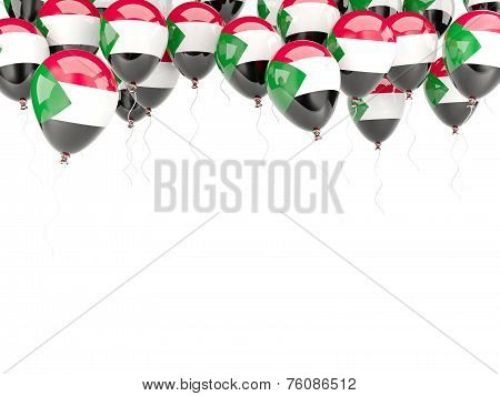 Balloon Frame With Flag Of Sudan