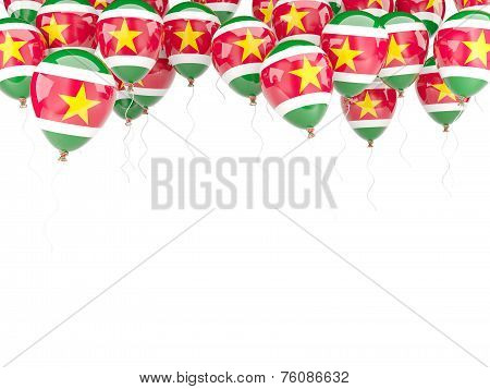 Balloon Frame With Flag Of Suriname