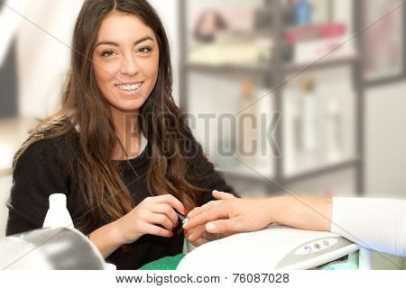 Manicurist Woman Smiling