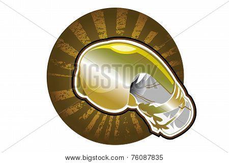 Golden boxing glove