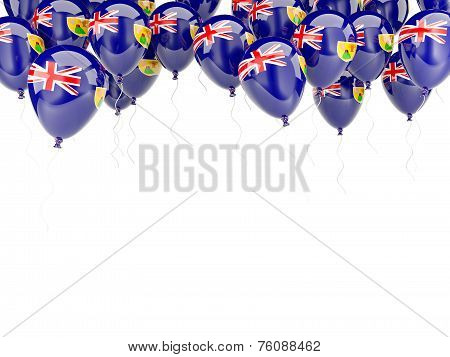 Balloon Frame With Flag Of Turks And Caicos Islands