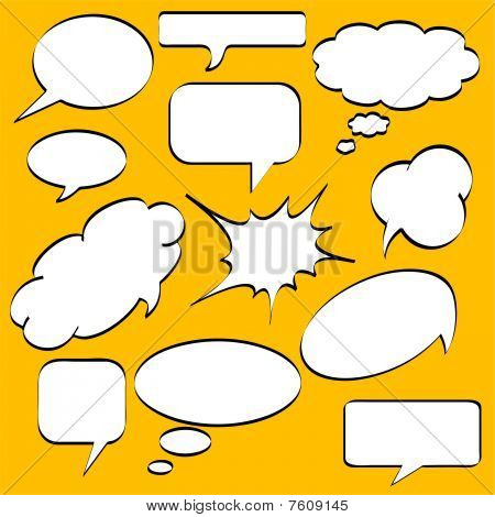 Comics style speech bubbles