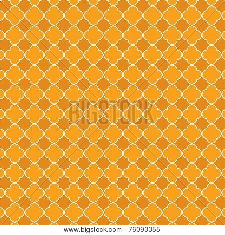 Orange Quatrefoil Pattern