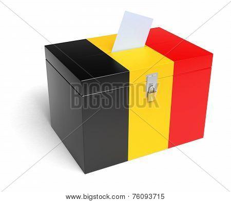 Belgium Flag Ballot Box
