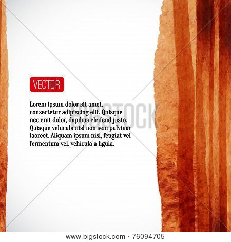 Abstract Vector Watercolor Background. Watercolour Stripes. Desi