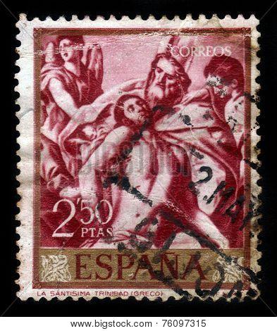The Holy Trinity By El Greco