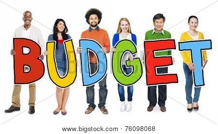 Group of Multiethnic People Holding Budget