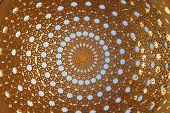 foto of gazebo  - Gold Gazebo dome - JPG