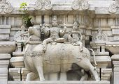 image of shiva  - Lord Shiva and his wife Parvati sit on Nandi the bull - JPG
