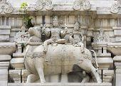 foto of shiva  - Lord Shiva and his wife Parvati sit on Nandi the bull - JPG