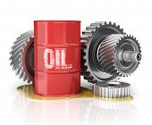picture of oil can  - motor oil can with gears - JPG