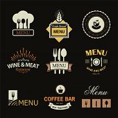 pic of calligraphy  - Vintage set of restaurant signs - JPG