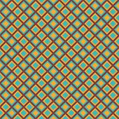 picture of cell block  - Colorful retro seamless pattern with blue and yellow mosaic rhomb blocks - JPG