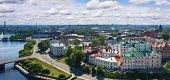 stock photo of olaf  - View from the Tower of Olaf the old town of Vyborg Russia - JPG