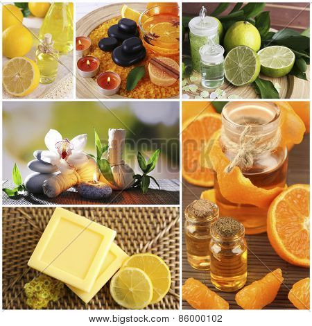 Citrus spa compositions in collage