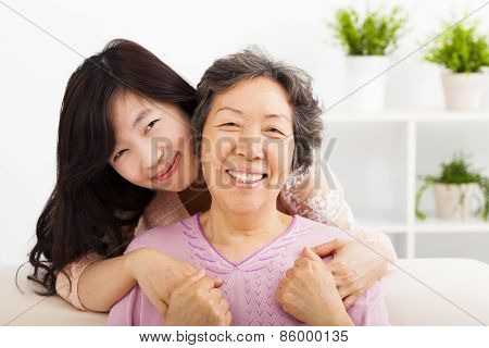 Happy Mother And Her Daughter