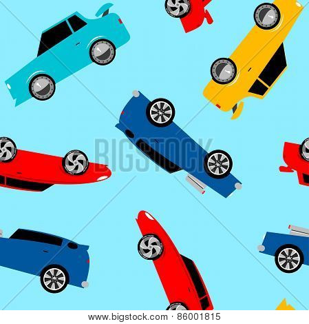 Street Racing Cars In A Seamless Pattern