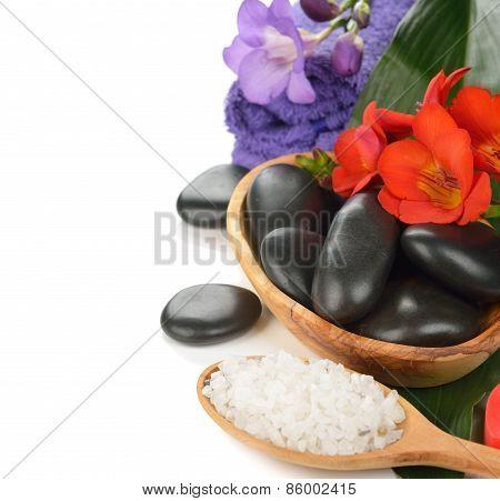 Stones, Sea Salt And Flower