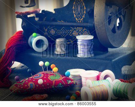vintage sewing arrangement