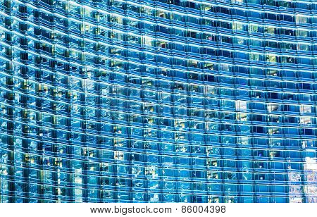 Blue Glassy Building