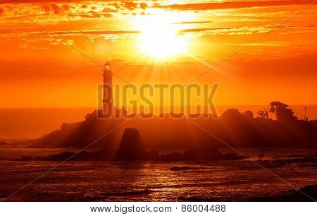 California Lighthouse Sunset