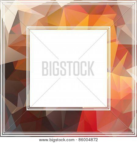 brown abstract border