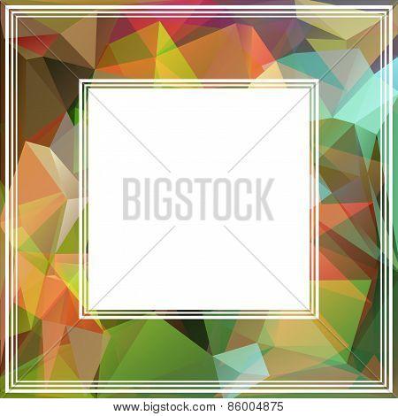 bright abstract border