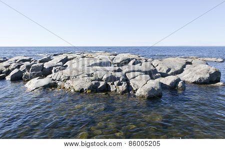 Rocks, cliffs at sea.