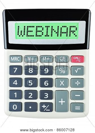 Calculator With Webinar