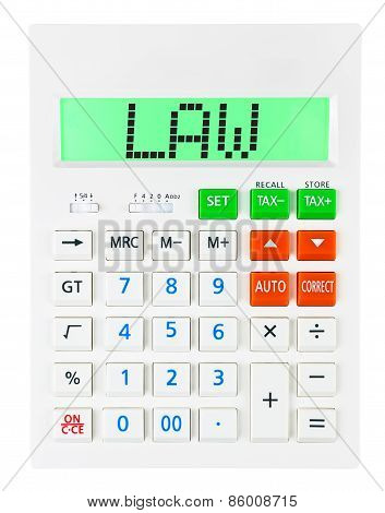 Calculator With Law