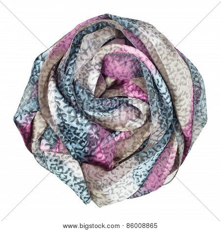 Silk Scarf. Lilac Silk Scarf Associated Rose