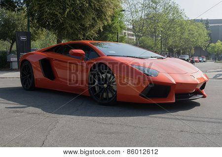 Lamborghini Aventador On Display
