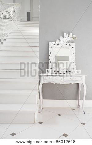 White Stairs In A Residence