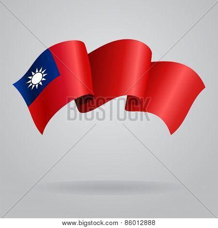 Taiwan waving Flag. Vector illustration