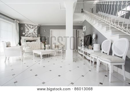 Designed Interior Of Expensive Residence