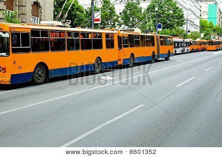 Trolleybus Standstill