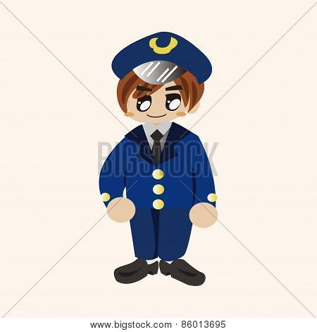 Captain Theme Elements Vector,eps