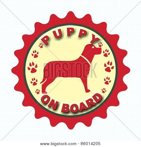 Puppy On Board Stamp