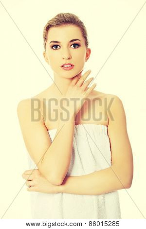 Beauty portrait. Beautiful spa woman with perfect fresh skin.  Youth and skin care concept