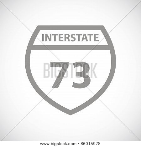 Road sign black icon