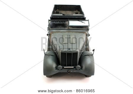 Half-track Gray German Car